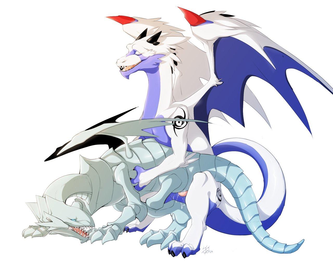 toon blue white eyes dragon Breath of the wild yaoi