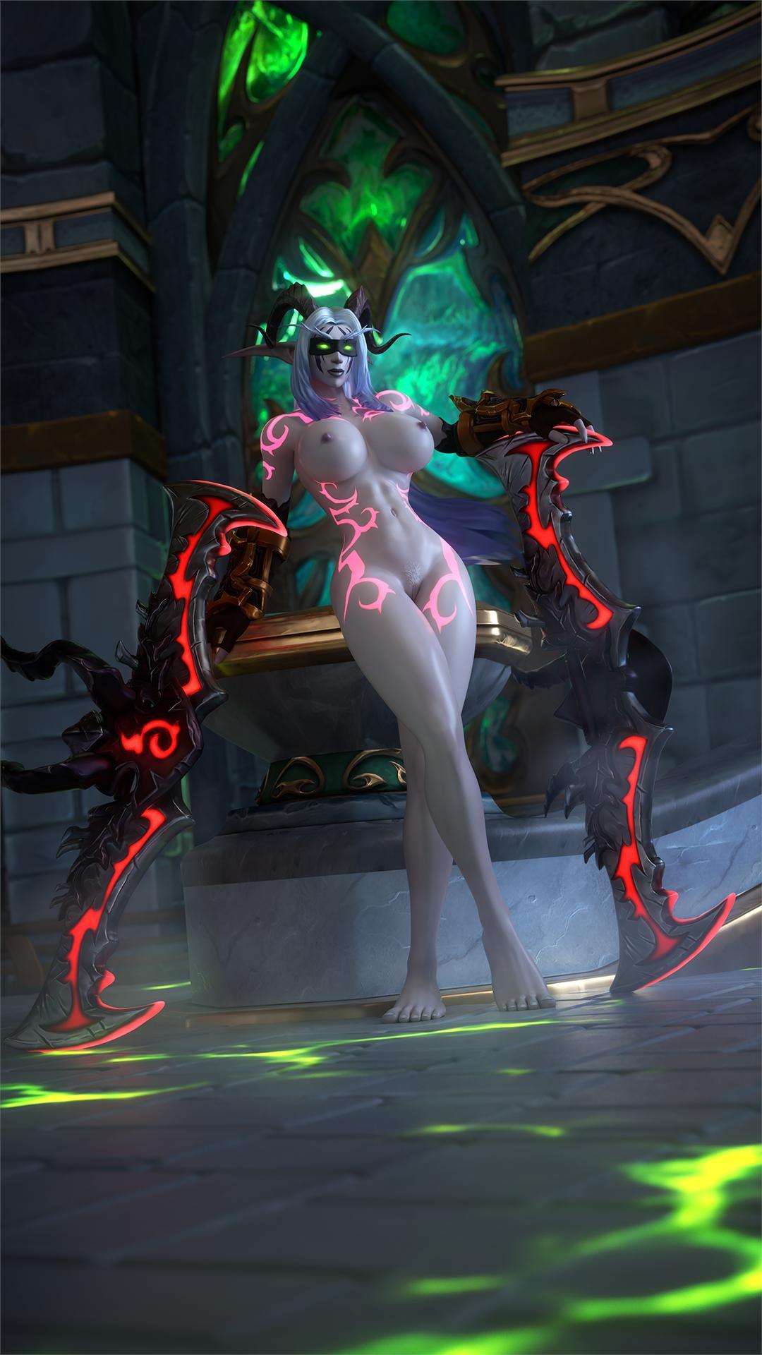 demon female night elf hunter In the village of busty lolis