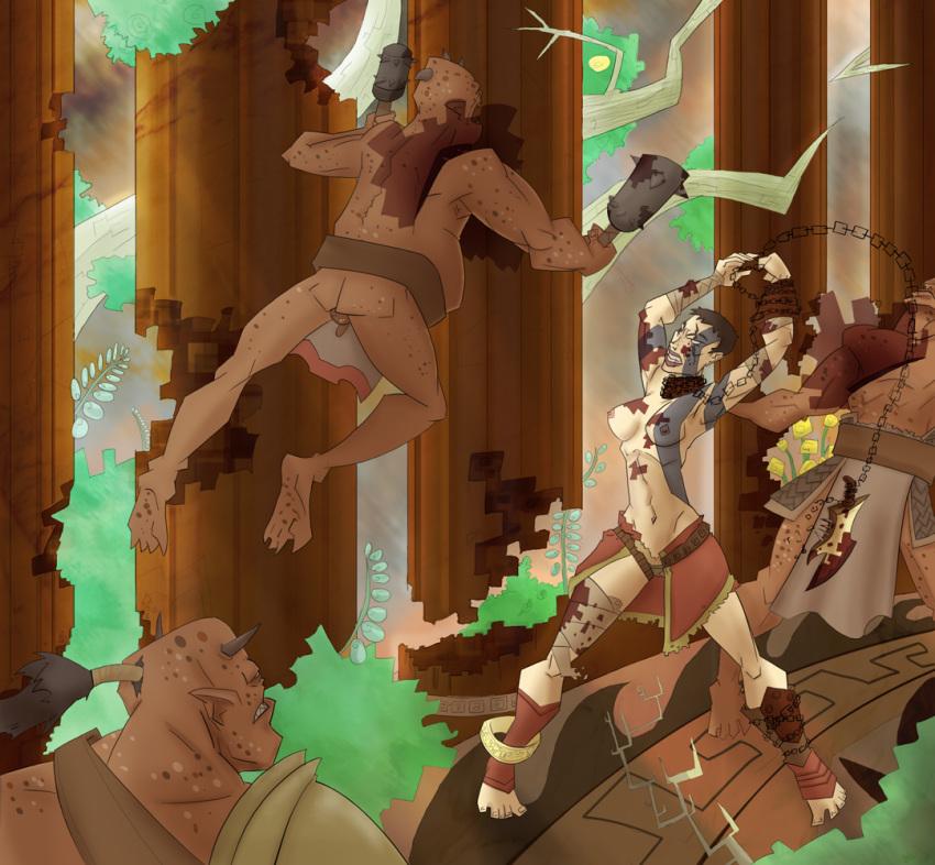 of war poseidon princess god Goblin slayer all rape scenes