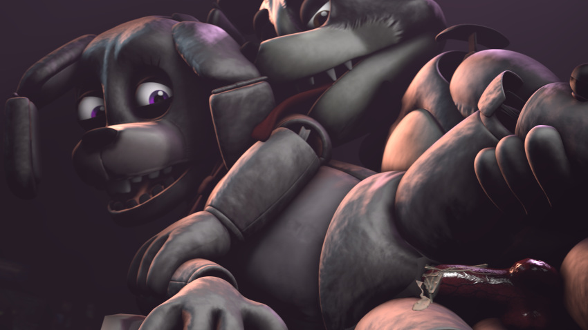 nights freddy's foxy five chica and at Ferretta a tale of tails e621