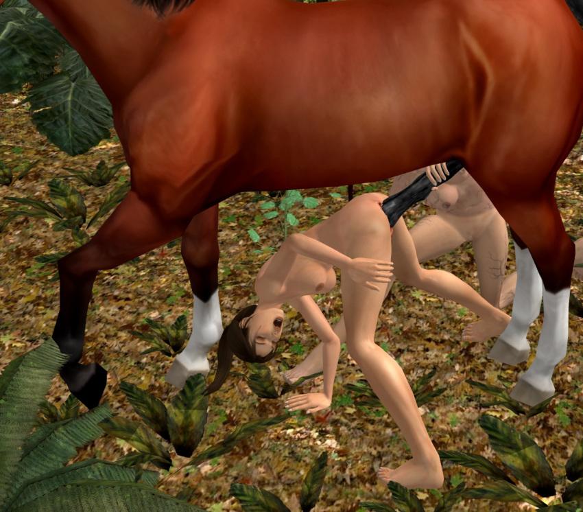 croft lara and horse 3d Yang xiao long robot arm