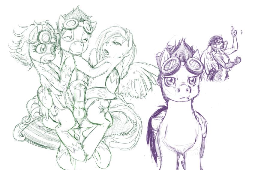 my soarin rainbow and dash pony little Go-toubun no hanayom